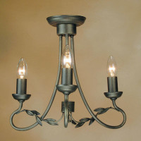 Elstead OV3 Olivia 3 Light Black Gold Chandelier