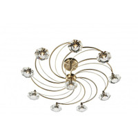Dar LUT2375 Luther 10 Light Antique Brass Ceiling Light