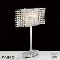 Diyas IL30575 Fabio Polished Chrome Table Lamp
