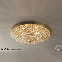 Diyas IL30756 Ava French Gold Flush Ceiling Light