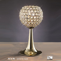 Diyas IL30755 Ava French Gold Crystal Table Lamp