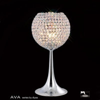 Diyas IL30194 Ava Polished Chrome Crystal Table Lamp