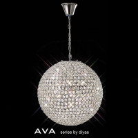 Diyas IL30201 Ava 7 Light Polished Chrome Ceiling Pendant