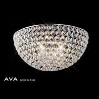 Diyas IL30198 Ava Polished Chrome Crystal wall Light