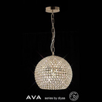 Diyas IL30752 AVA 5 Light French Gold Crystal Ceiling Pendant