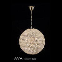 Diyas IL30753 Ava 7 Light French Gold Ceiling Pendant