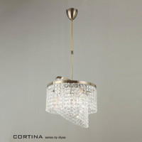 Diyas IL30093 Cortina Antique Brass Crystal Pendant