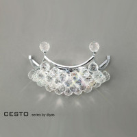 Diyas IL30037 Cesto Polished Chrome Crystal Wall Light