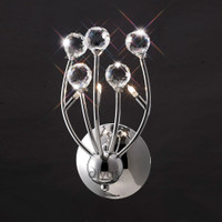 Diyas IL30831 Xeena Polished Chrome Wall Light