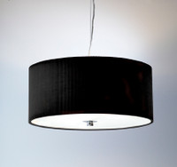 DRAZ101722 Pendant MEDIUM BLACK 3 x 60W