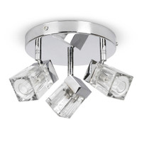 Ice Cube 3 Light Polished Chrome Bathroom Light