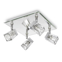 Ice Cube 4 Light Polished Chrome Bathroom Light