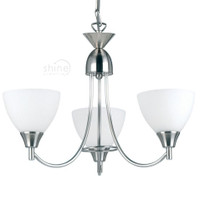 Endon 1805-3SC 3 Light Pendant Satin Chrome