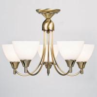 Endon 1805-5AN 5 Light Pendant Antique Brass