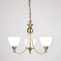 Endon 1805-3AN 3 Light Pendant Antique Brass