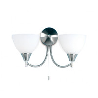 Endon 1805-2SC 2 Light Satin Chrome Wall Light