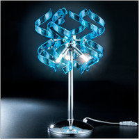 Metallux Astro 206.123.08 3 Light Blue Crystal Table Lamp