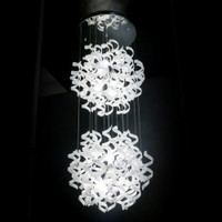Metallux Astro 206.176.02 12 Light White Glass Pendant