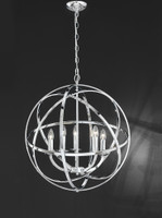 4122805 Orb 6 Light Chrome Ball Pendant