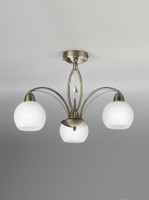 Franklite FL2278/3 Thea 3 Light Bronze Ceiling Light