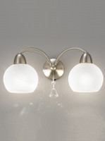 Franklite FL2277/2 Thea 2 Light Satin Nickel Wall Light