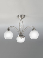 Franklite FL2277/3 Thea 3 Light Satin Nickel Ceiling Light