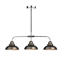 Dar DYN0361 Dynamo Antique Chrome Triple Pendant