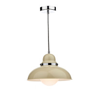 Dar DYN0133 Dynamo 1 Light Gloss Cream Pendant