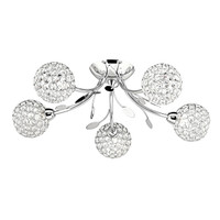 Searchlight 6575-5CC Bellis II 5 Light Polished Chrome Ceiling Light