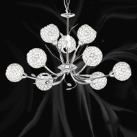 S9155799CC 9 Light Polished Chrome Ceiling Pendant