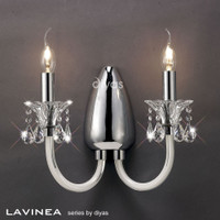 Diyas IL30732 Lavinea 2 Light Crystal Wall Light