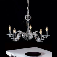 Diyas IL30345 Niobe 5 Light Polished Chrome Crystal Chandelier
