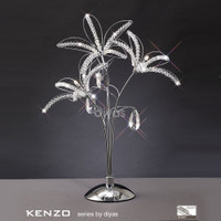Diyas IL30882 Kenzo 3 Light Polished Chrome Crystal Table Lamp