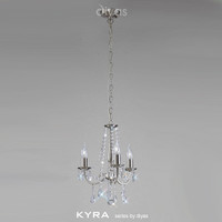 Diyas IL30973 Kyra 3 Light Satin Nickel Chandelier
