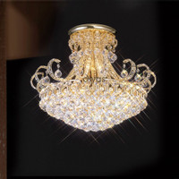 Diyas IL30007 Pearl 12 Light Gold / Crystal Ceiling Light