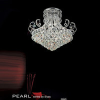 Diyas IL30027 Pearl 12 Light Polished Chrome / Crystal Ceiling Light