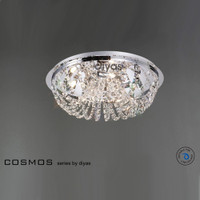 1530043 5 Light Chrome / Crystal Ceiling Light