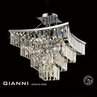 Diyas IL30642 Gianni 5 Light Semi Flush Chrome Ceiling Light