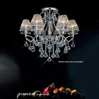 Diyas IL30116 Bianco 6 Light Crystal Chandelier Chrome