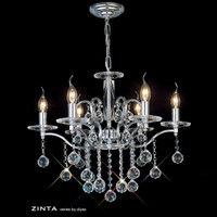 Diyas IL30126 Zinta 6 Light Crystal Chandelier Chrome
