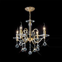 Diyas IL30224 Zinta 4 Light Crystal Chandelier Gold