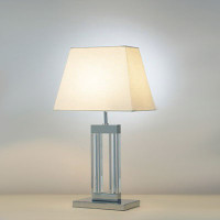 DMOD104050 Glass Table Lamp with a Chrome Base