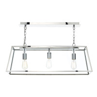Dar ACA0344 Academy 3 Light Polished stainless steel Pendant