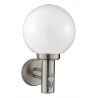 S91085 Globe Outdoor Sensor Wall Light Stainless Steel