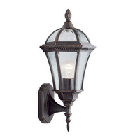 S911565 Capri 1 Light Outdoor Lantern Rustic Brown