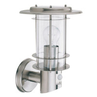S916211 1 Light Stainless Steel Pir Lantern