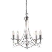 S9163455SS Maypole 5 Light Chandelier Stainless Steel