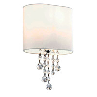 S9110511CC Nina 1 Light Crystal Wall Light