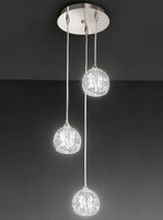 Franklite FL2300/3 Tierney 3 Light Ceiling Pendant Satin Nickel