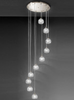 Franklite FL2300/10 Tierney 10 Light Ceiling Pendant Satin Nickel